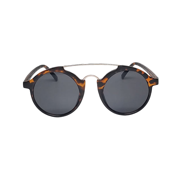 tortoise leopard frame sunglasses round lens vintage style