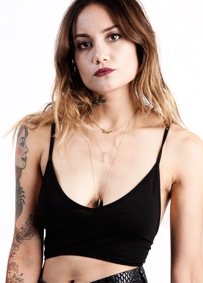 Black V-Cut Bralette