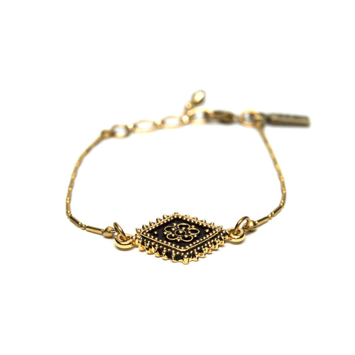 Vanessa Mooney The Diamond Lace Gold Bracelet