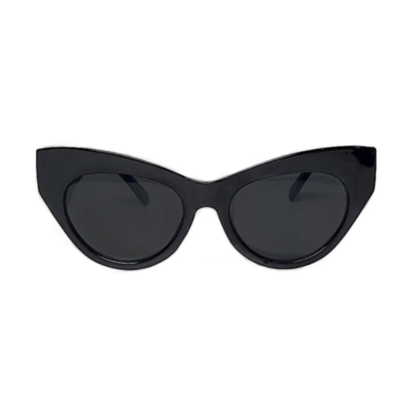 retro vintage oversized cat eye sunglasses in black