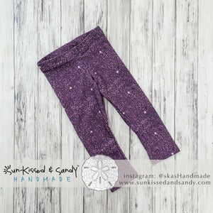Plum Sparkle Leggings (Baby + Youth) Performance