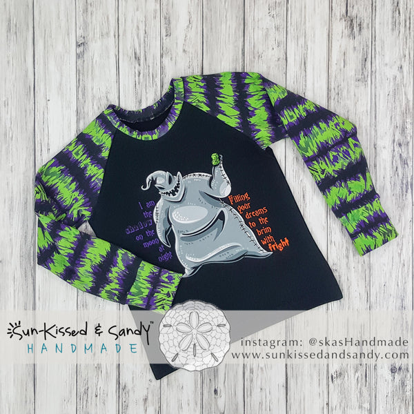 Oogie Boogie I Am The Shadow... Raglan Ready To Ship