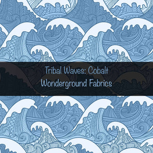 Cobalt Blue Tribal Waves Grow With Me Loones Reserved Listing
