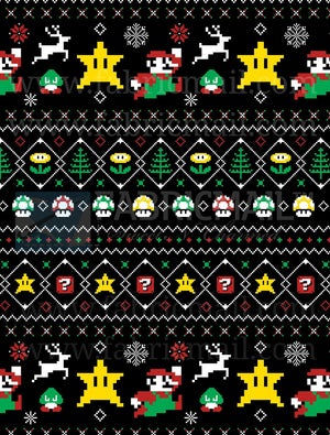 Ugly Sweater Gamer Shirt - (Made To Order Custom) Reserved Listing