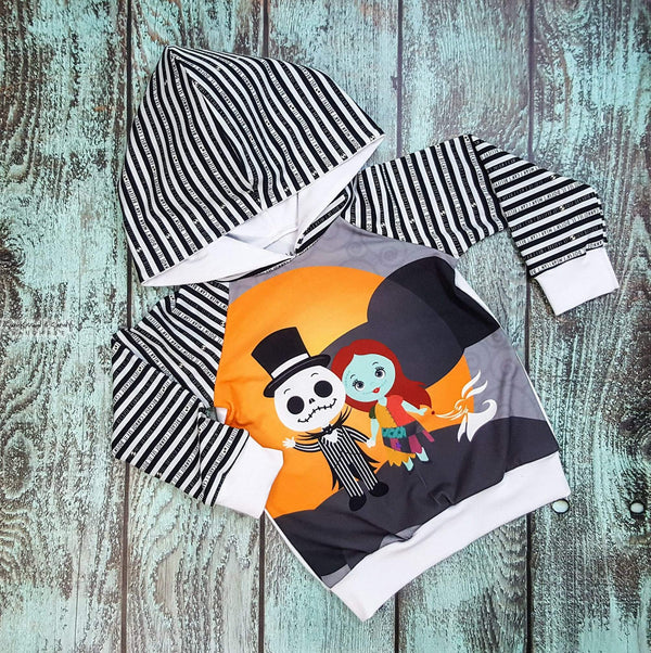 Jack & Sally Hoodie - (Custom Made To Order) Custom Mto