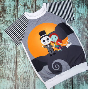 Jack & Sally Raglan - (Custom Made To Order) Custom Mto