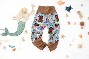 Tribal Moana + Brown Forever Fit Grow With Me Joggers - Rts Ready To Ship