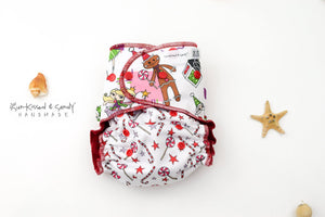Primitive Christmas & Peppermint Swirl Os Ai2 (Rts) Diapers Trainers