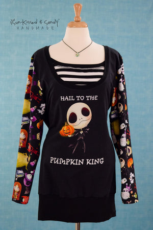 Pumpkin King Long Sleeve / Scoop Neck Nursing Top Ready To Ship