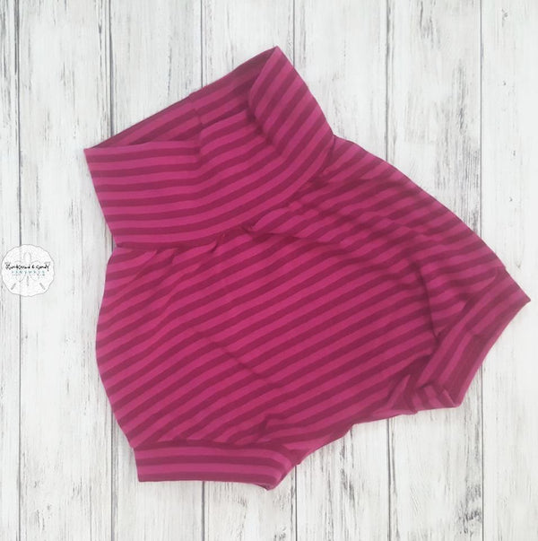 Orchid Stripe Grow With Me Cuff Shorties Ready To Ship
