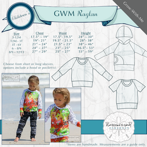 Grow-With-Me Raglan Styles & Size Charts