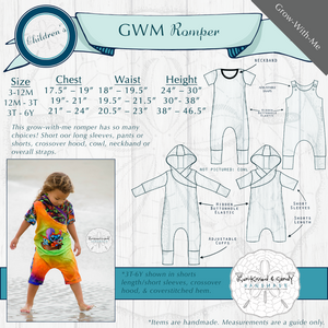 Grow-With-Me Romper Styles & Size Charts
