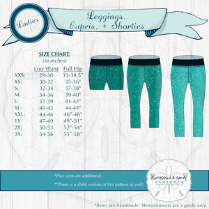 Clothing - Pre-Order Fabric Deposit Teen Or Adult Leggings Capris