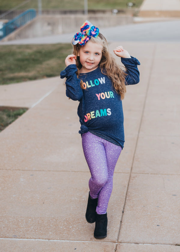 Purple Sparkle Leggings (Baby + Youth) Performance