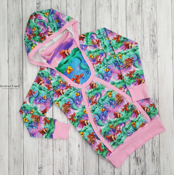 Mermaid Princess & Scales Long Sleeve Hooded Dress Reserved Listing