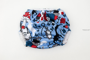 Impossible Thoughts Swim Diaper - (Made To Order Custom) Reserved Listing