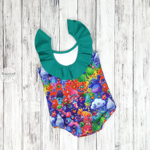 Trolls Swim Suit Semi-Custom Mto
