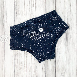 Doctor Who Hello Sweetie Panel Undies Semi-Custom Mto