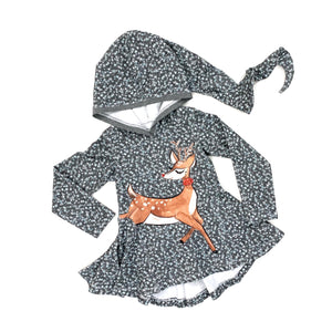 Reindeer Twirly Tunic w/ Fairy Hood