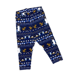 Ladies' Ravenclaw Ugly Sweater Comfort Capri Leggings
