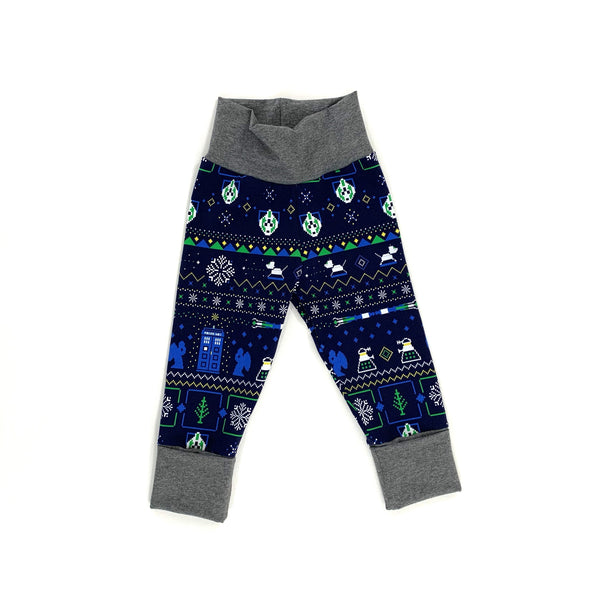 Doctor Who Ugly Christmas Grow With Me Joggers Ready To Ship