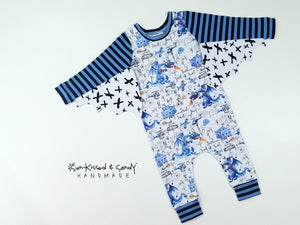 Harem romper coverall w/ dragon wings
