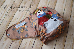 Steampunk Snowman On Clockwork Snowflakes Diaper One Size Ai2 (Rts) Diapers & Trainers
