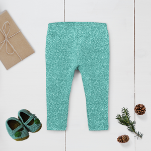 Mint Sparkle Leggings (Baby + Youth) Performance