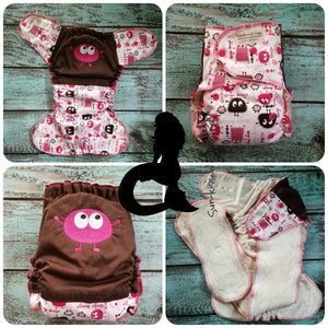 Little Pink Ooga Monster Os Ai2 Rts Diapers & Trainers
