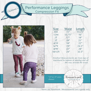 Silver Sparkle Leggings (Baby + Youth) Performance