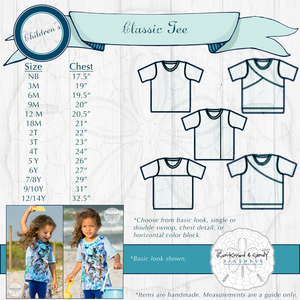Classic Tee Styles & Size Charts