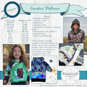 Euro / Creative Pullover (Children/youth) Styles & Size Charts