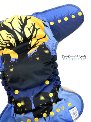 Blue Spooky Halloween Os Ai2 Plus (Rts) Diapers & Trainers