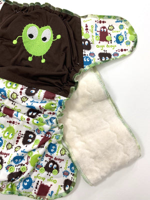 Little Green Ooga Monster Os Ai2 Rts Diapers & Trainers
