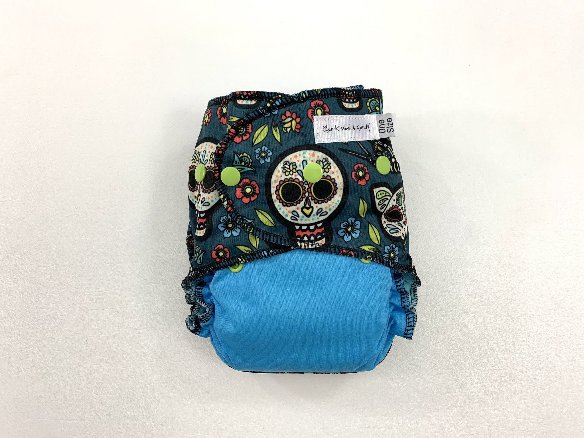 01df0f4ad12e4 Los Gatos Calaveras Sugar Skulls on Blue OS Ai2 PLUS (RTS)