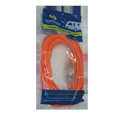 Coast to Coast 15 AMP Heavy Duty Extension Lead - 10m