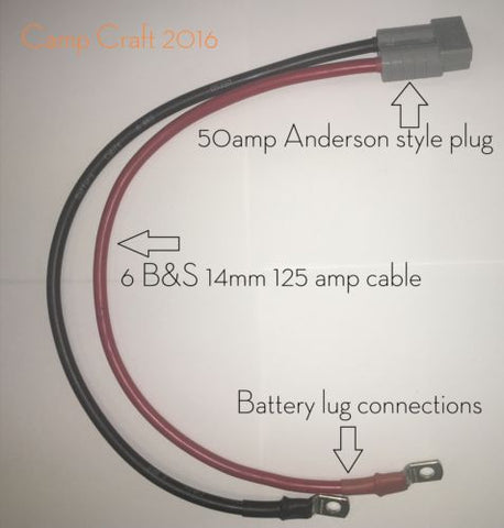 50amp Anderston Style Plug to Battery Lug
