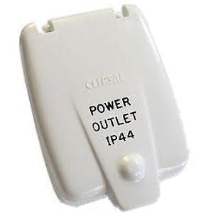 Clipsal Old Style 240v Power outlet Flap (White) IP44