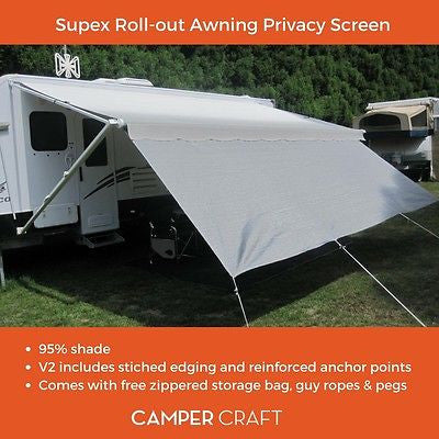 Supex Caravan Roll Out Awning Privacy Screen to Suite a 16ft Awning (4.6 x 1.8)