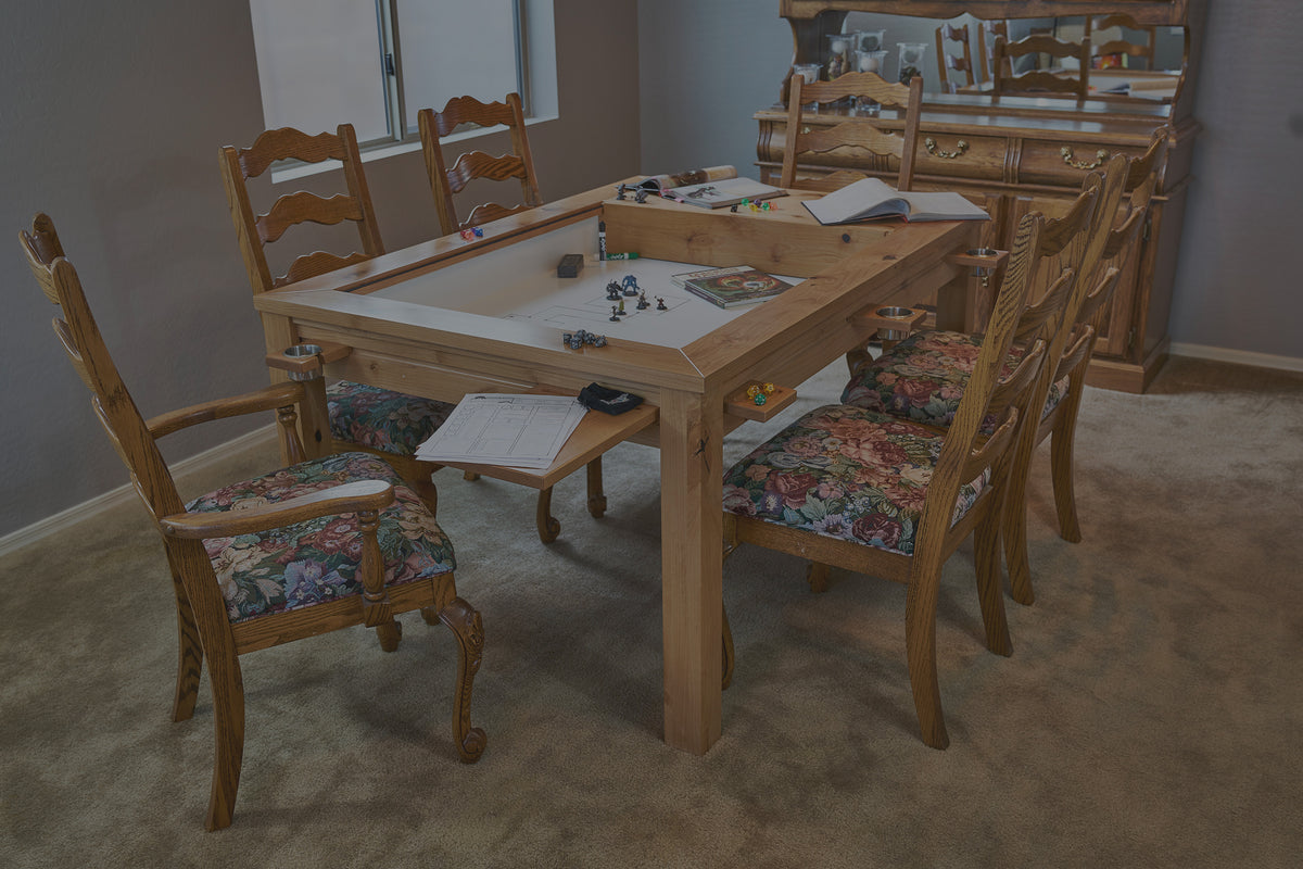 Custom Gaming table designed by uniquely-geek for all your tabletop gaming table needs