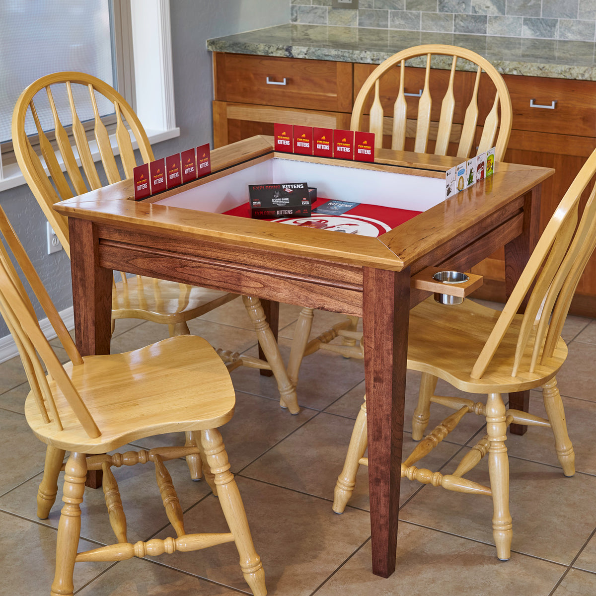 Custom Gaming table designed by uniquely-geek for all your table top gaming and dining table needs
