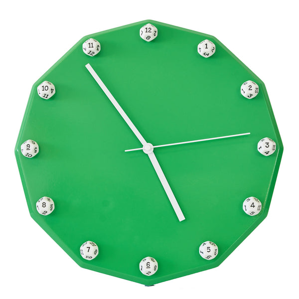 12 Sided Dice Wall Clock (d12)