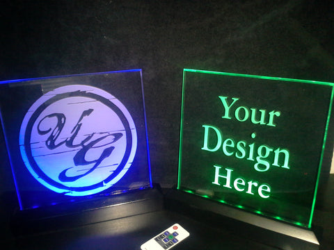 Laser Engraved Plexi-glass LED sign