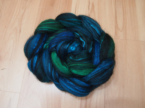 Michael's Butterfly, Polwarth/Black Baby Alpaca/Mulberry Silk, 4 ounces