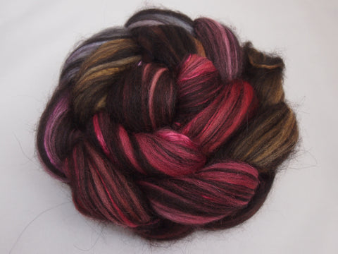Happy Valentine's Day (I'm Breaking Up With You), Polwarth/Black Baby Alpaca/Mulberry Silk, 4 ounces