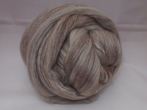 Undyed Rambouillet/Mulberry Silk/Black Welsh/Manx