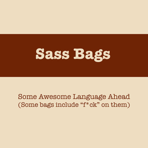 PRE-ORDER Now Closed: Sass Bags: Project Bags With Attitude