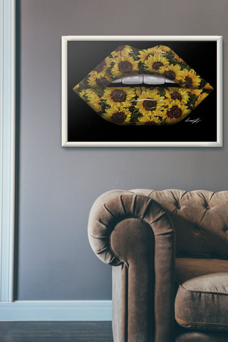 Sunflower Lips Print - Giovannie's Originals