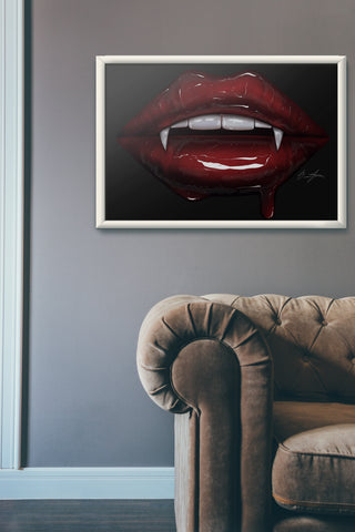 Vampire Lips Print - Giovannie's Originals