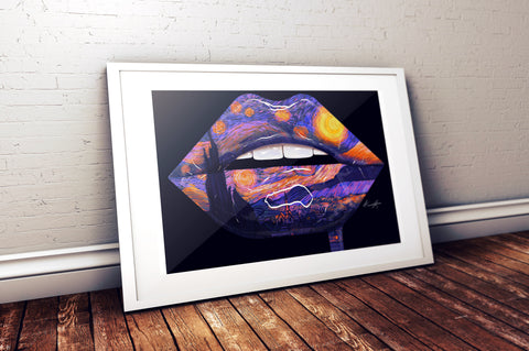 """Midnight Sky"" Lips Print - Giovannie's Originals"